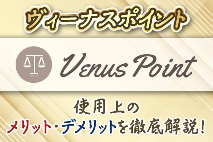 【ヴィーナスポイント】使用上のメリット・デメリットを徹底解説!